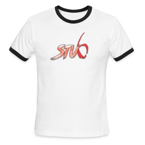 STU6 Logo T-Shirt - Men's Ringer T-Shirt