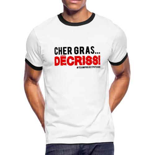 Conception Decriss - T-shirt à bords contrastants pour hommes American Apparel