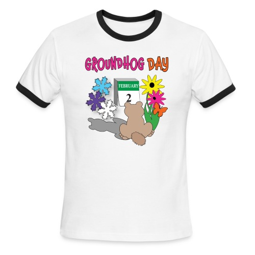 Groundhog Day Dilemma - Men's Ringer T-Shirt