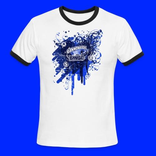 Vintage Cannonball Bingo Drip Blue - Men's Ringer T-Shirt