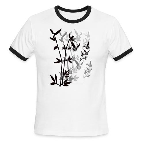 Butterflies n Bamboo-tran - Men's Ringer T-Shirt