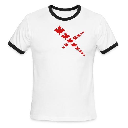 Maple Leafs Cross - Men's Ringer T-Shirt