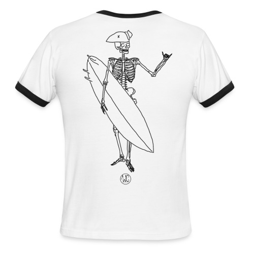 Skelly surfer - Men's Ringer T-Shirt