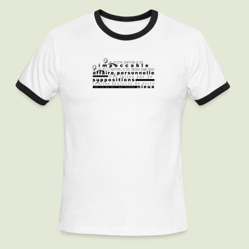 4 Accords Toltèques - Men's Ringer T-Shirt