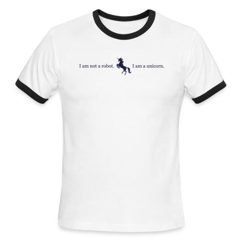 unicorn 3 final dark blue - Men's Ringer T-Shirt