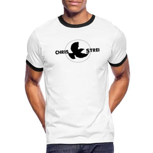 Chris Strei BlackBird Logo (black) - Men's Ringer T-Shirt