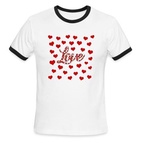 VALENTINES DAY GRAPHIC 3 - Men's Ringer T-Shirt