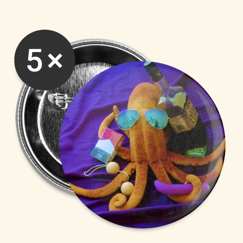 Mr squiddy - Buttons large 2.2'' (5-pack)