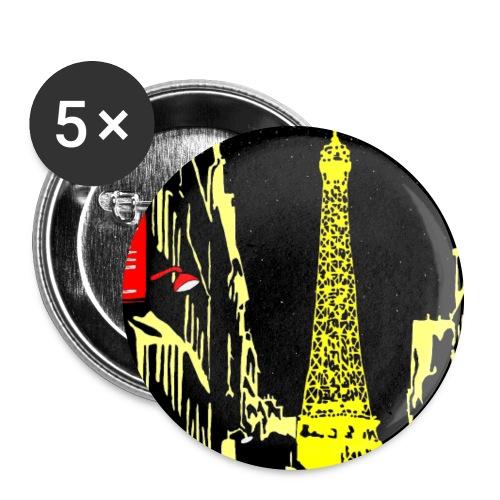 PARIS - Buttons large 2.2'' (5-pack)