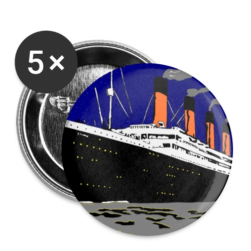 TITANIC - Buttons large 2.2'' (5-pack)