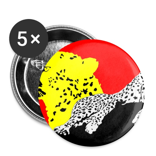 CHEETAH - Buttons large 2.2'' (5-pack)