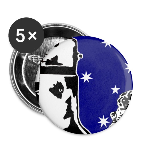 NED KELLY - Buttons large 2.2'' (5-pack)