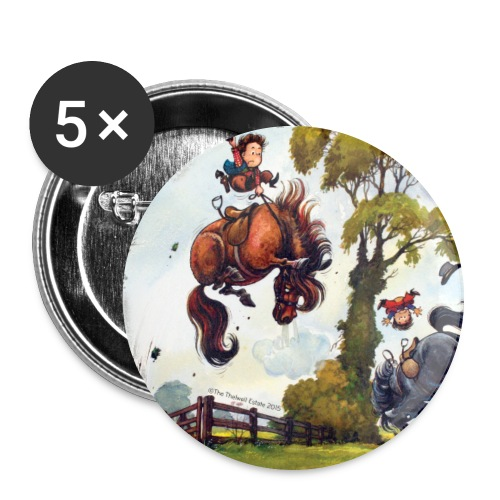 PonyRodeo Thelwell Cartoon - Buttons large 2.2'' (5-pack)