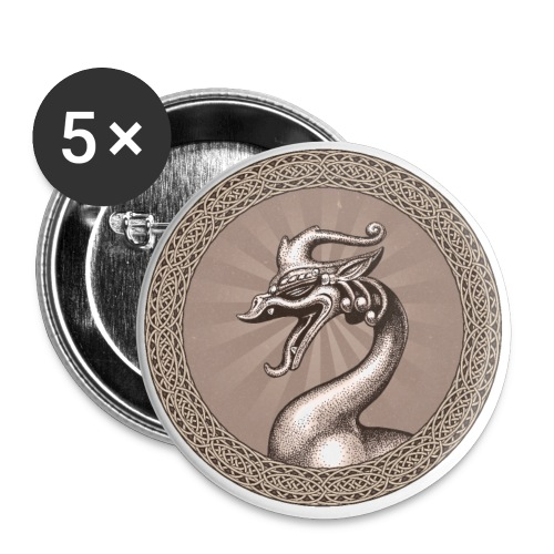 Laughing Dragon - Buttons large 2.2'' (5-pack)