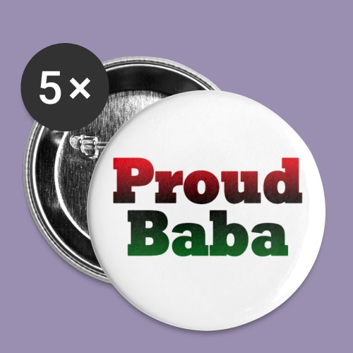 Proud Baba-RBG - Buttons large 2.2'' (5-pack)