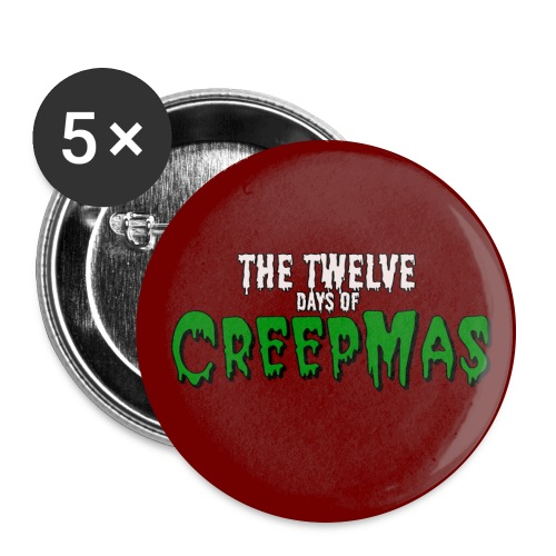 TwelveDaysOfCreepmas Red png - Buttons large 2.2'' (5-pack)