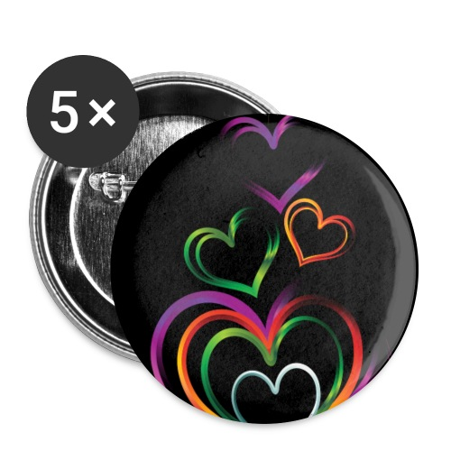background with glossy rainbow heart f1csd65u L - Buttons large 2.2'' (5-pack)