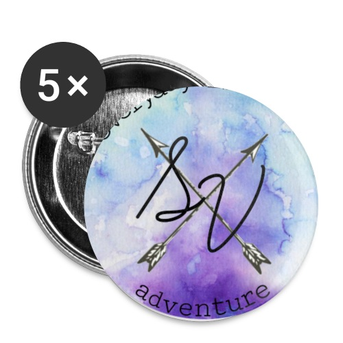 everyday is a new adventure logo - Buttons large 2.2'' (5-pack)