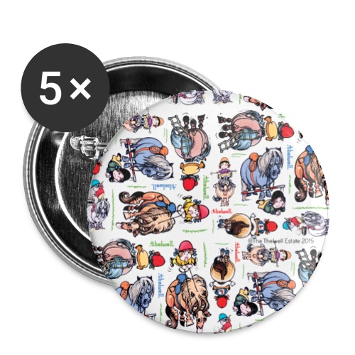 PonyCartoons Thelwell Cartoon - Buttons large 2.2'' (5-pack)