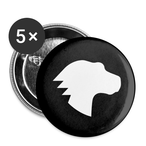 Dino Knock-Out - Buttons large 2.2'' (5-pack)