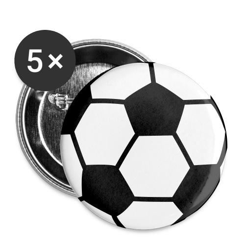 custom soccer ball team - Buttons large 2.2'' (5-pack)