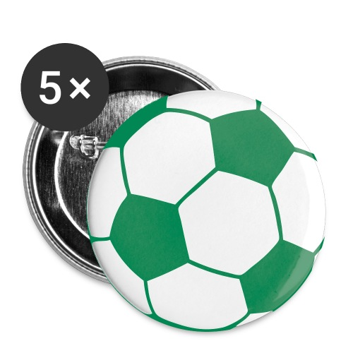 Custom soccerball 2 color - Buttons large 2.2'' (5-pack)