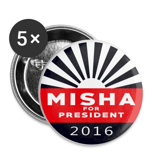 Misha 4 President Button - Buttons large 2.2'' (5-pack)