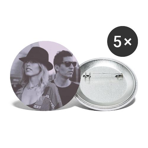 Lydia&Sebastien Traveling Shoes art cover - Buttons large 2.2'' (5-pack)