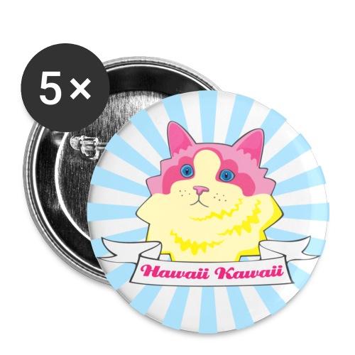 Hawaii Kawaii Cat - Buttons large 2.2'' (5-pack)