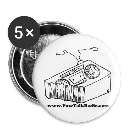 FTRLogoBlackAddress - Buttons large 2.2'' (5-pack)