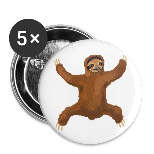 Sloth Love Hug - Buttons large 2.2'' (5-pack)