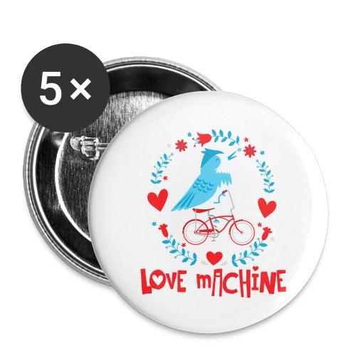 Cute Love Machine Bird - Buttons large 2.2'' (5-pack)