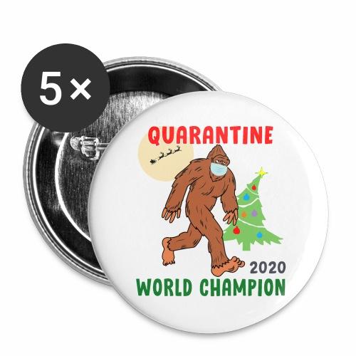 Quarantine World Champion Sasquatch Mask Christmas - Buttons large 2.2'' (5-pack)