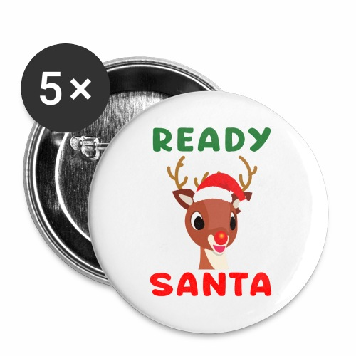 Rudolph Red Nose Reindeer Christmas Snowflakes. - Buttons large 2.2'' (5-pack)