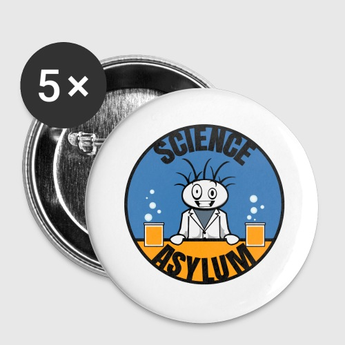 Science Asylum Logo - Buttons large 2.2'' (5-pack)
