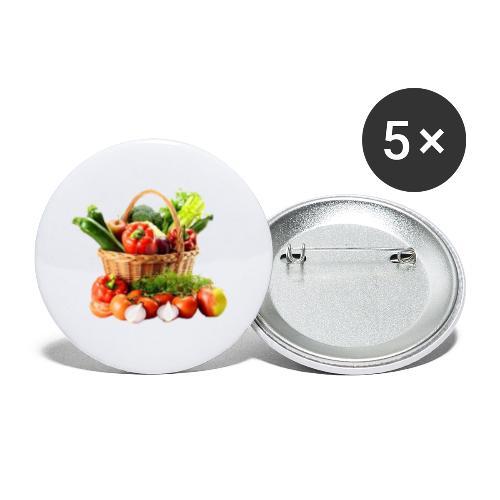 Vegetable transparent - Buttons large 2.2'' (5-pack)