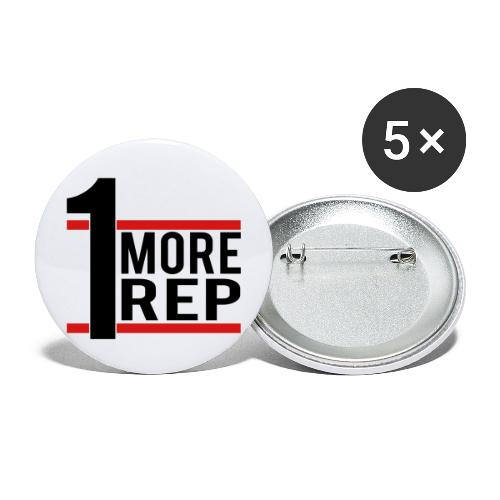 1 More Rep - Buttons large 2.2'' (5-pack)