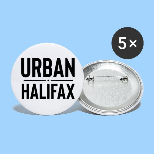 Urban Halifax logo (Black) - Buttons large 2.2'' (5-pack)