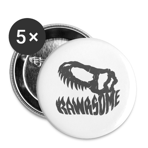 RAWRsome T Rex Skull by Beanie Draws - Buttons large 2.2'' (5-pack)
