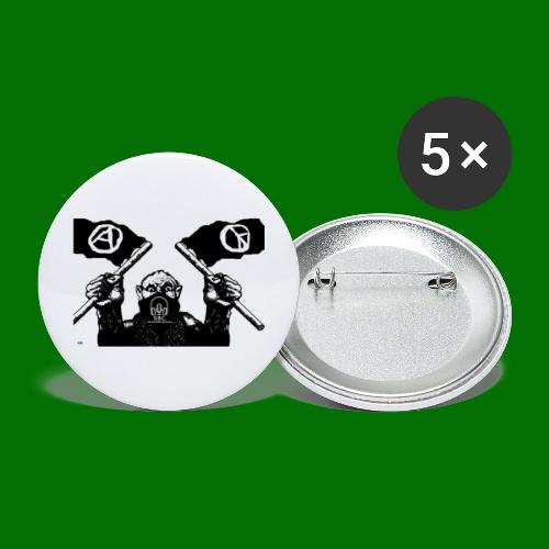 anarchy and peace - Buttons large 2.2'' (5-pack)
