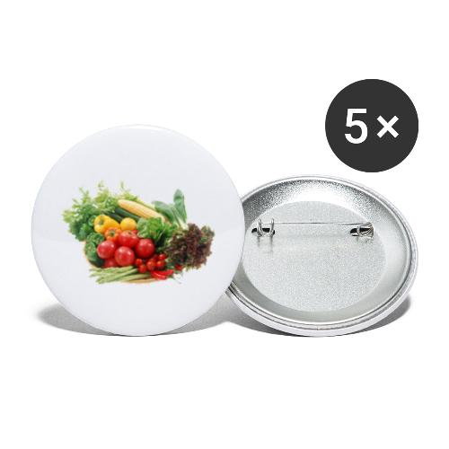 vegetable fruits - Buttons large 2.2'' (5-pack)