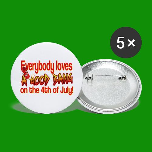 4th of July Bang - Buttons large 2.2'' (5-pack)