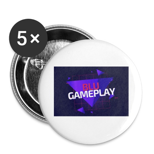 Retro Blu Gameplay - Buttons large 2.2'' (5-pack)