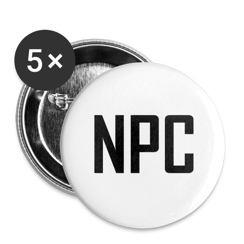 N P C letters logo - Buttons large 2.2'' (5-pack)