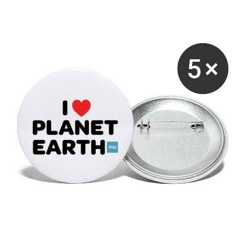 I Heart Planet Earth - Buttons large 2.2'' (5-pack)