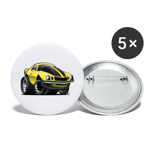 Seventies Classic American Muscle Car Cartoon - Buttons large 2.2'' (5-pack)
