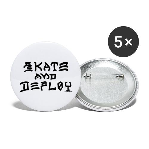 Skate and Deploy - Buttons large 2.2'' (5-pack)