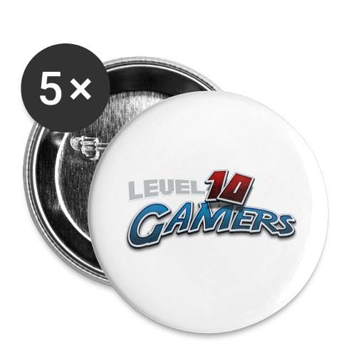 Level10Gamers Logo - Buttons large 2.2'' (5-pack)