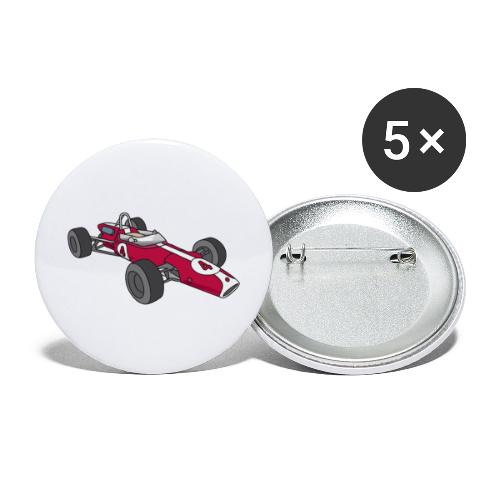 Red racing car, racecar, sportscar - Buttons large 2.2'' (5-pack)