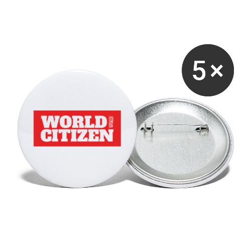 World Citizen - Buttons large 2.2'' (5-pack)